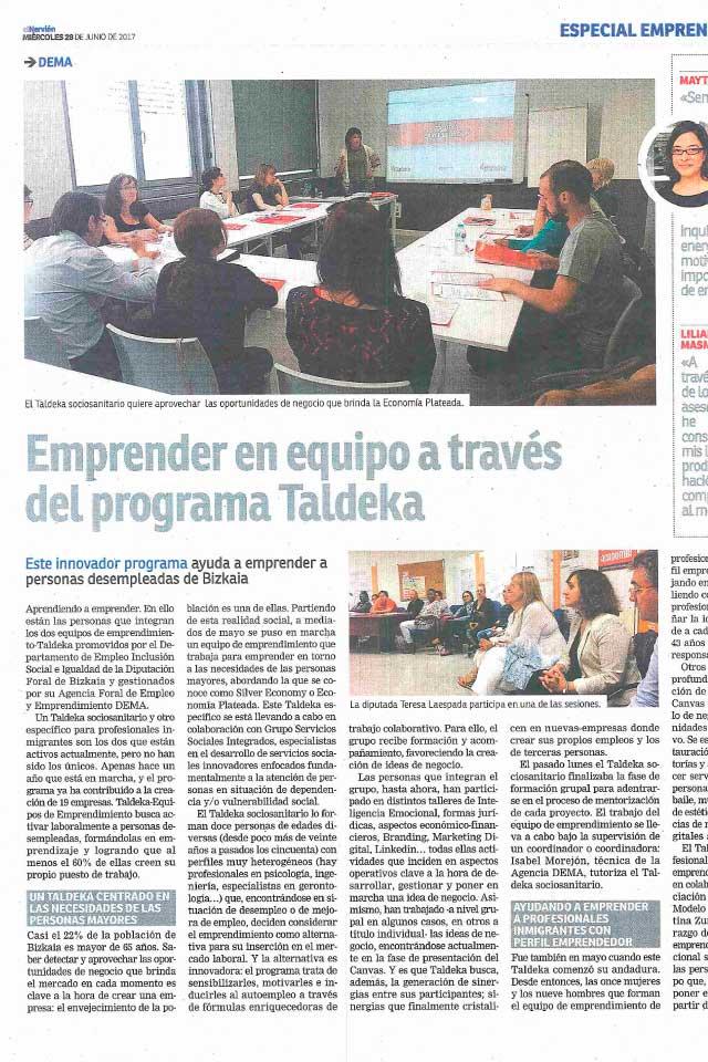 Emprender en equipo, Taldeka y Silver Economy, Nervión. 28/06/2017