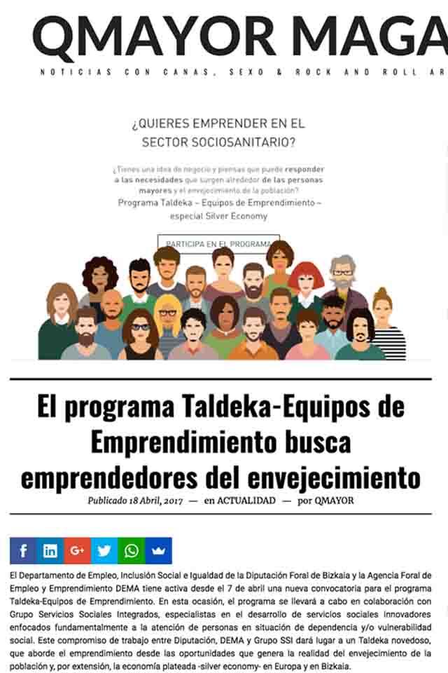 Taldeka - equipos de emprendimiento, QMayor, 18/04/2017
