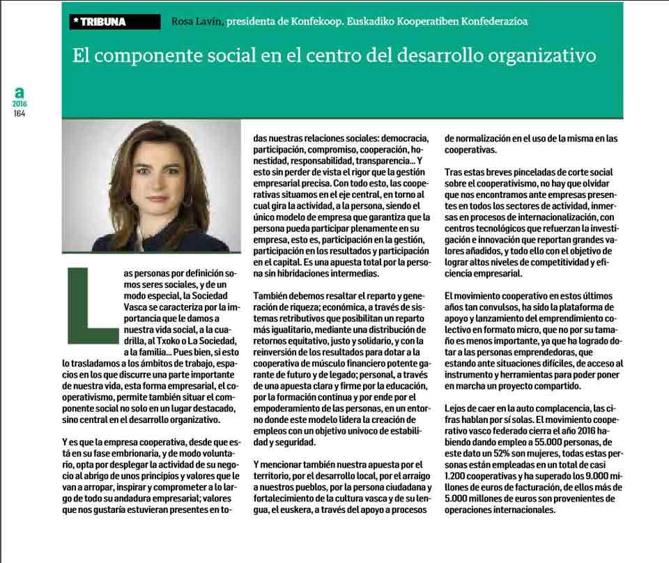 Componente social: Desarrollo organizativo. Estrategia empresarial, 12-2016