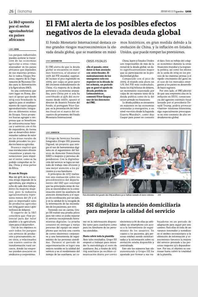 Programa DIGISAD, Gara. 22 Abril 2018