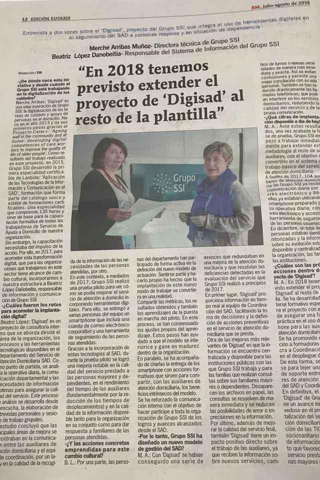 Programa DIGISAD, Entremayores. 12 Julio 2018