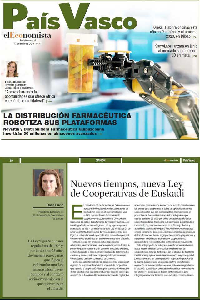 Columna de opinión Rosa Lavín. El Economista. 17 Enero 2019