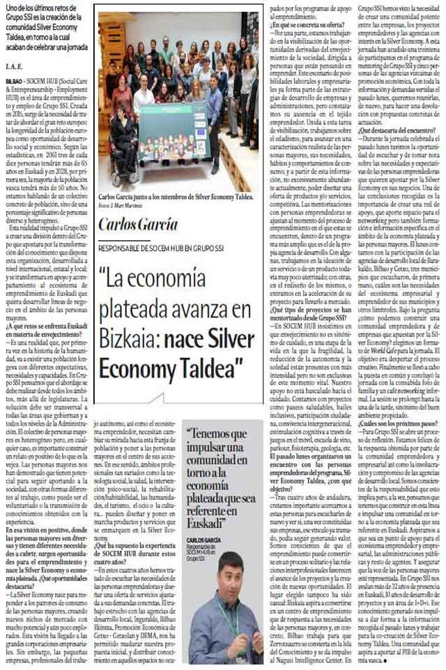 Silver Economy Taldea. Deia. 14 Abril 2019