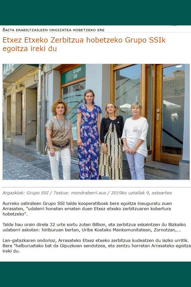 Nuevas oficinas en Arrasate. Diario Vasco. Julio 2019