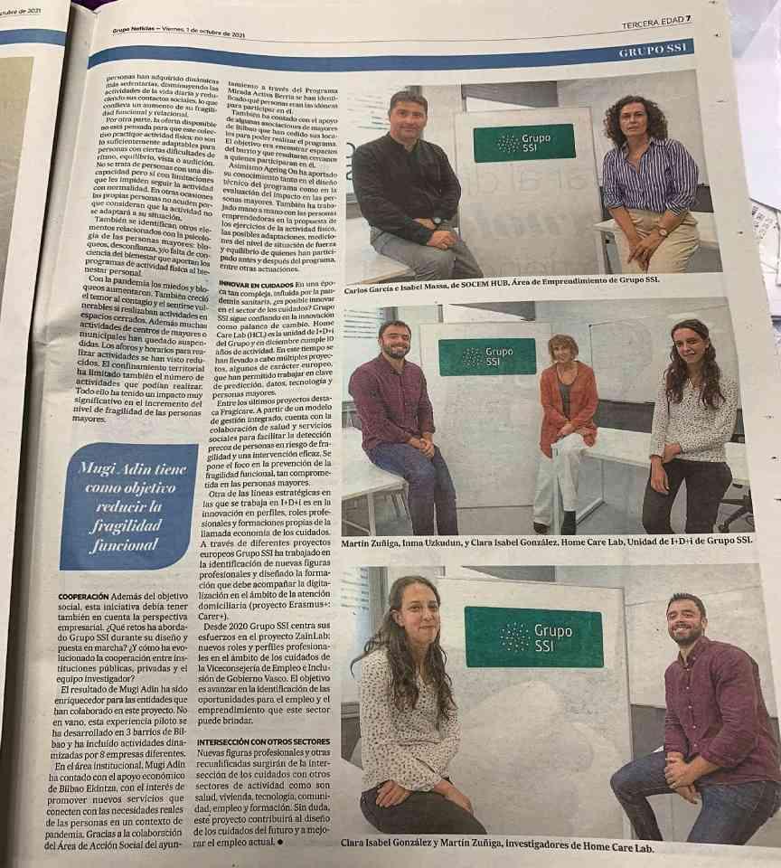 Grupo SSI Articulo en el periódico DEIA